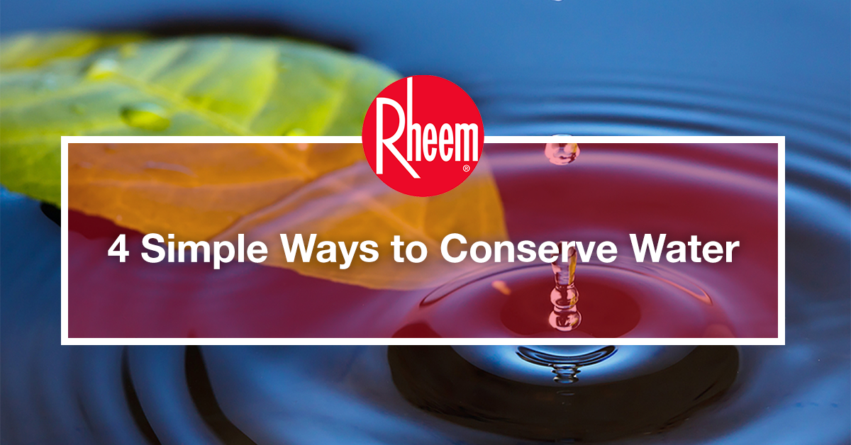 4 simple ways to conserve water