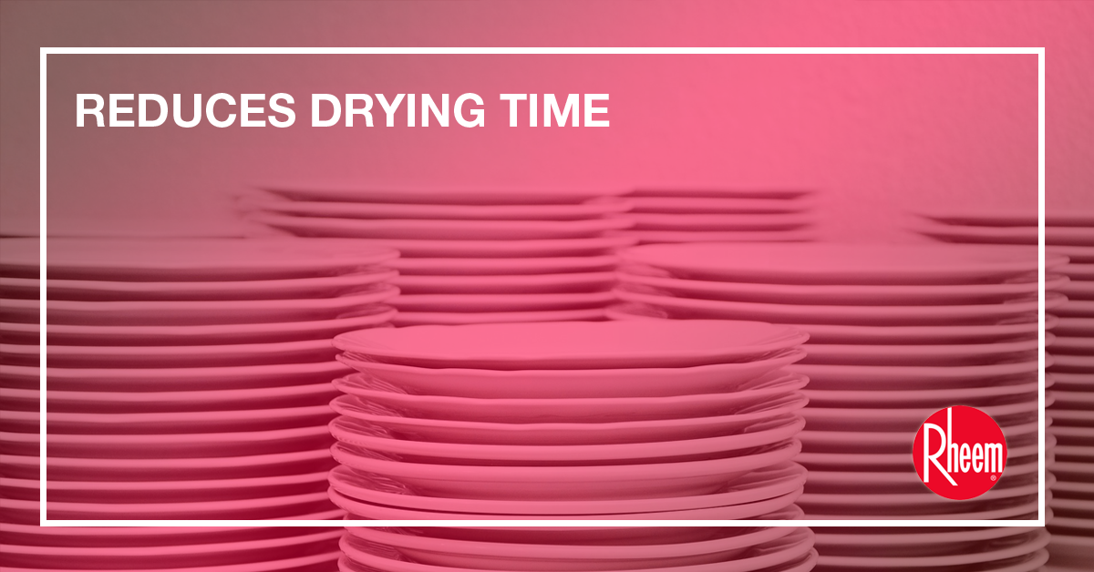 reduces drying time