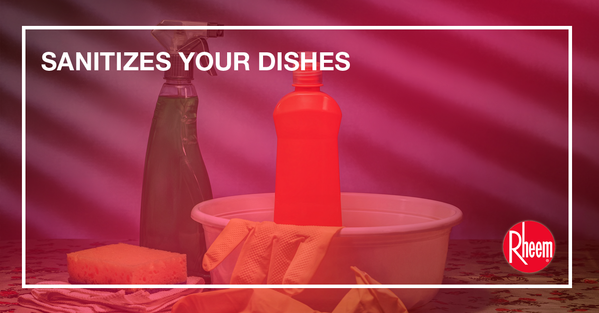 sanitizes your dishes