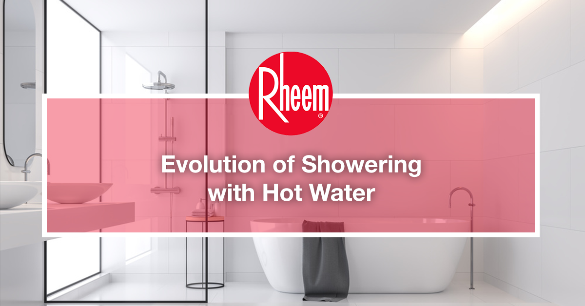Evolution of showering with hot water
