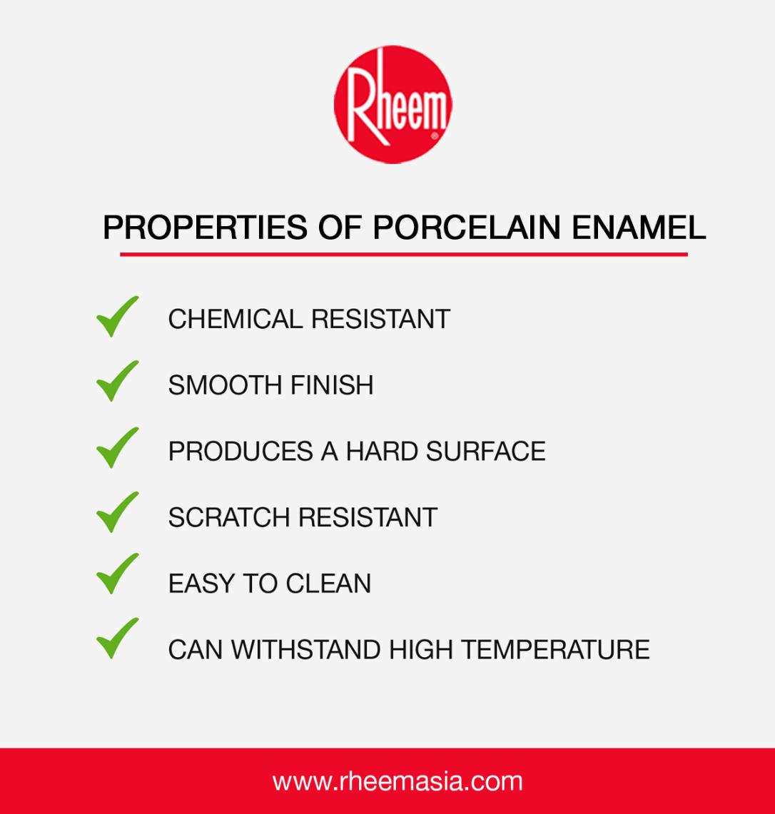 properties of porcelain enamel