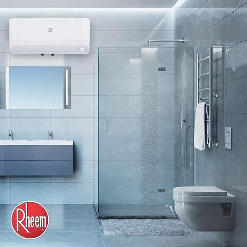 Máy nước nóng gián tiếp gắn trong tường phòng tắm