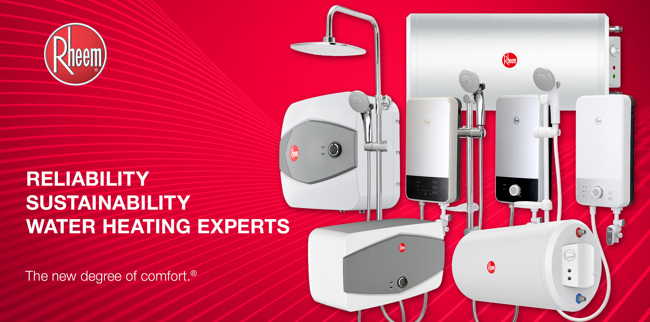 Water heater products by Rheem Singapore