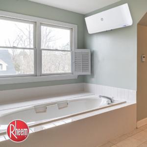 Rheem's slim horizontal cuboid storage water heaters