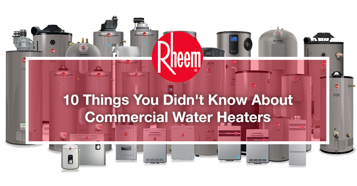 Rheem is a reliable commercial water heater company in Philippines