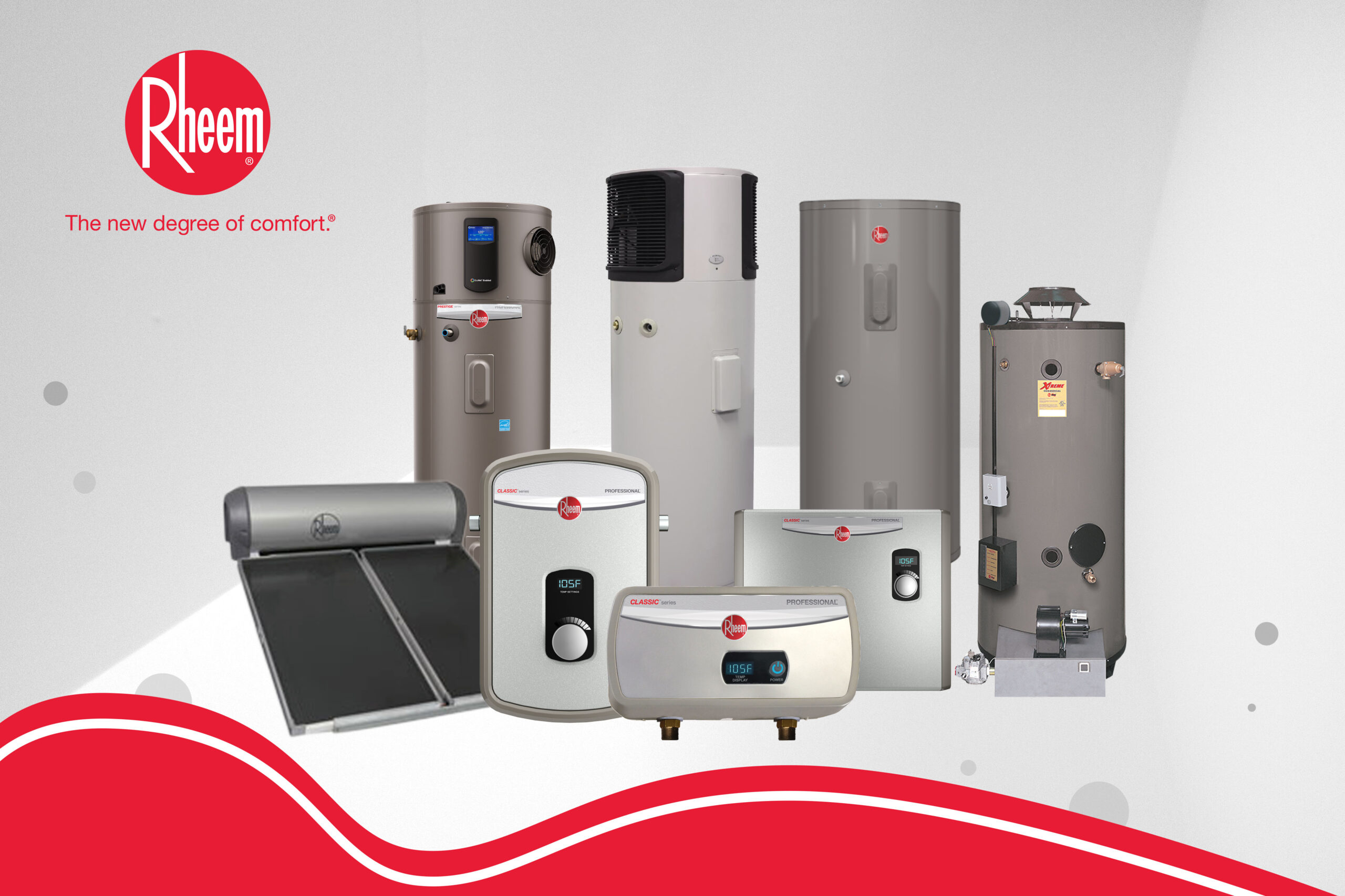 Electric water heater products by Rheem Philippines