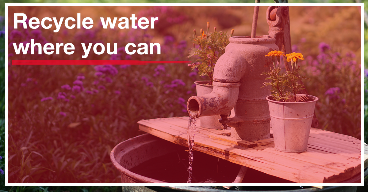 Recycle water where you can